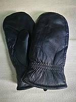 Варежки мужские кожаные