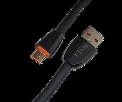 Дата кабель Tesla micro-USB, 2.4A, Черный
