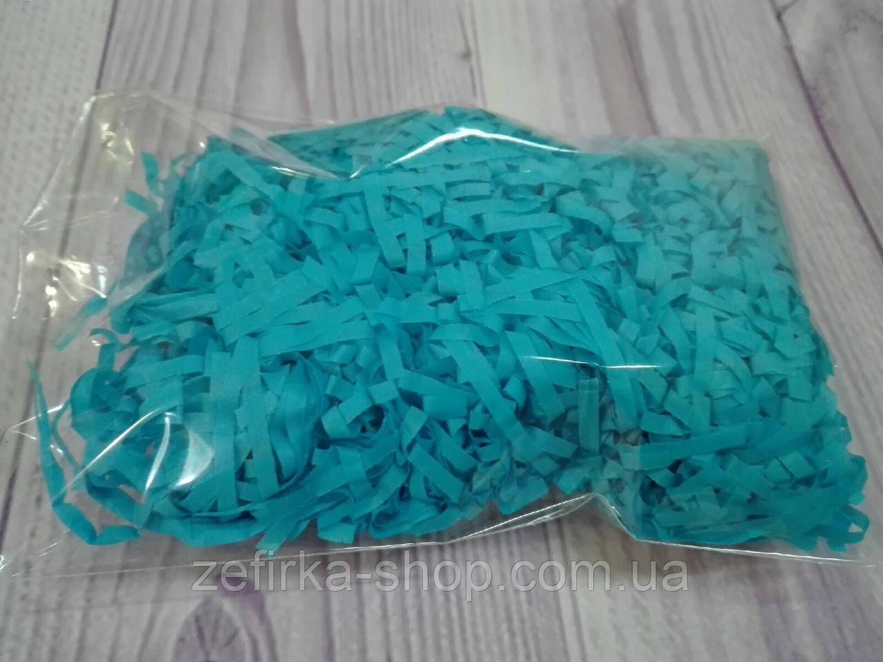 Бумажный наполнитель для коробки, цвет голубой