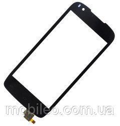 Сенсорный экран (тачскрин) Fly iQ4405 Quad Evo Chic 1 чёрный ориг. к-во