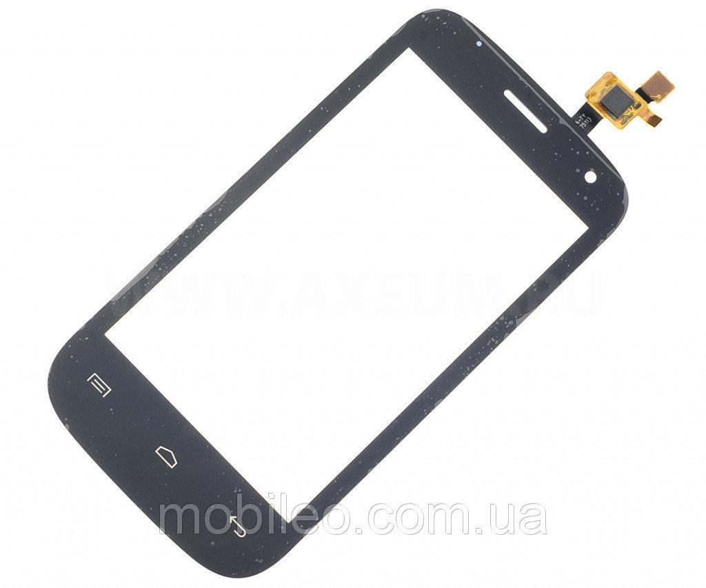 Сенсорный экран (тачскрин) Fly IQ445 Genius чёрный ориг. к-во