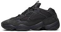 Зимние женские кроссовки Adidas Yeezy 500 Utility Black (адидас изи буст 500, внутри мех)