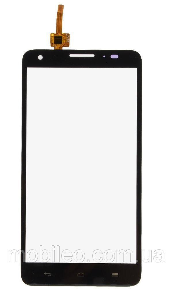 Сенсорный экран (тачскрин) Huawei Ascend Honor 3x G750 чёрный ориг. к-во