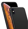 Чехол-накладка ультратонкий 0.3mm для Apple iPhone XS\ X силиконовый матовый (черный), фото 5