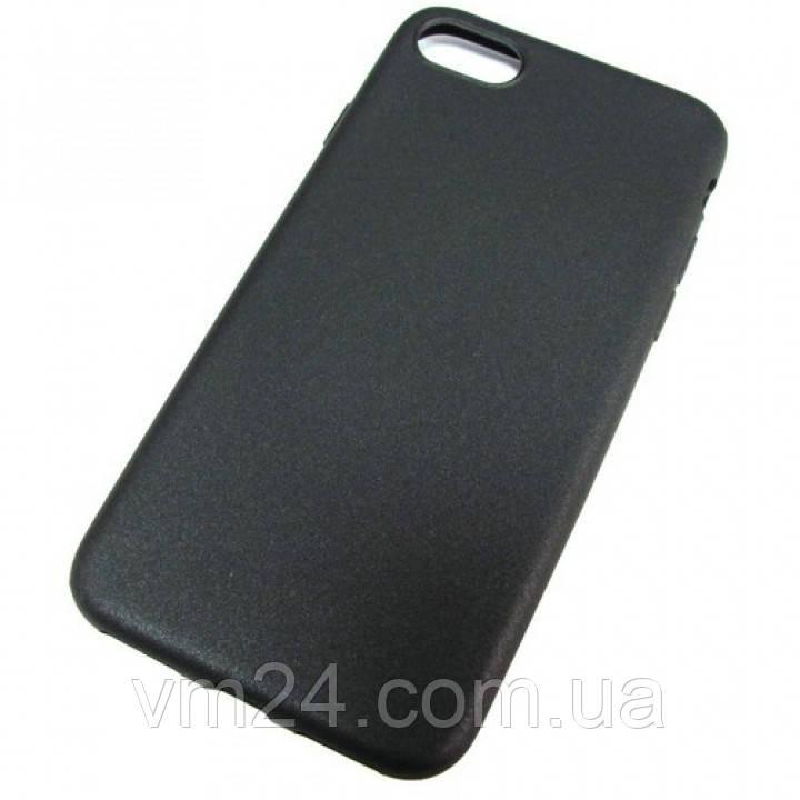 Чехол-накладка ультратонкий 0.3mm для Apple iPhone 7\8 силиконовый матовый (черный)