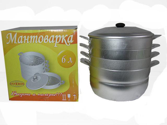 Мантоварка объемом 6 литров Interos из алюминия