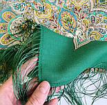 Соловушка 1893-9, павлопосадский платок шерстяной  с шелковой бахромой, фото 5