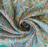 Соловушка 1893-9, павлопосадский платок шерстяной  с шелковой бахромой, фото 8