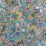Соловушка 1893-9, павлопосадский платок шерстяной  с шелковой бахромой, фото 10