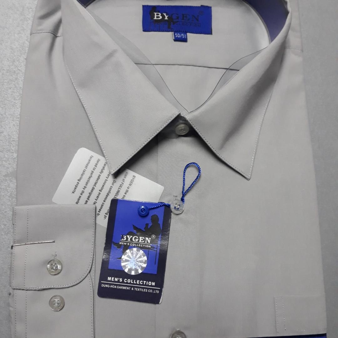 Сіра чоловіча сорочка-батал CLASSIC TIGE (розмір 48,49,50,51,53)