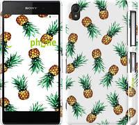 """Чехол на Sony Xperia Z2 D6502/D6503 Ананас """"2499c-43"""""""