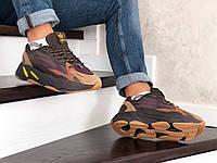 Чоловічі кросівки в стилі  Adidas Yeezy Boost 700 коричневі