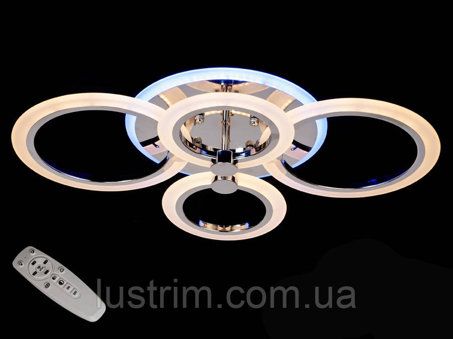 Светодиодная LED-люстра с диммером и цветной подсветкой 70W