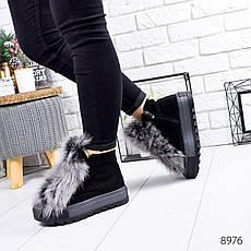 """Ботинки женские зимние, черного цвета из натуральной замши """"8976"""". Черевики жіночі. Ботинки теплые, фото 3"""