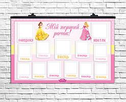 Плакат 12 місяців Princess  75х120 см (укр)