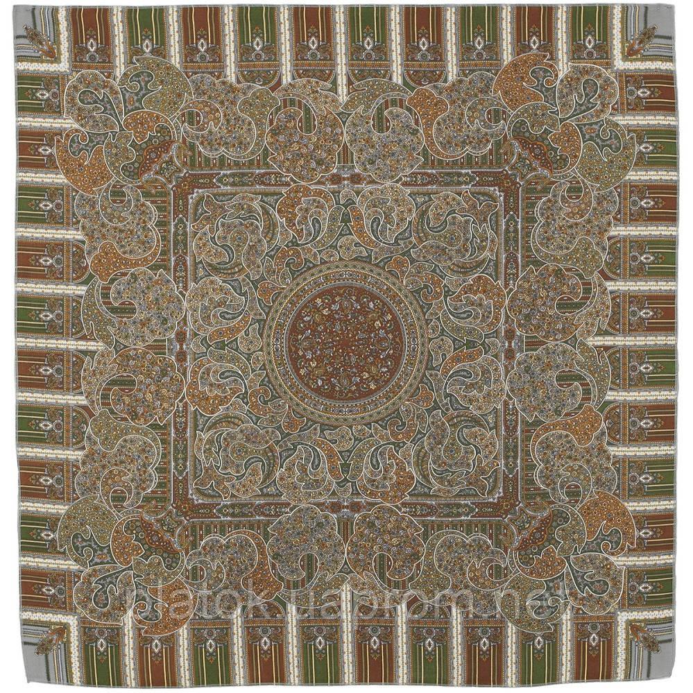День рождения 789-1, павлопосадский платок шерстяной  с оверлоком