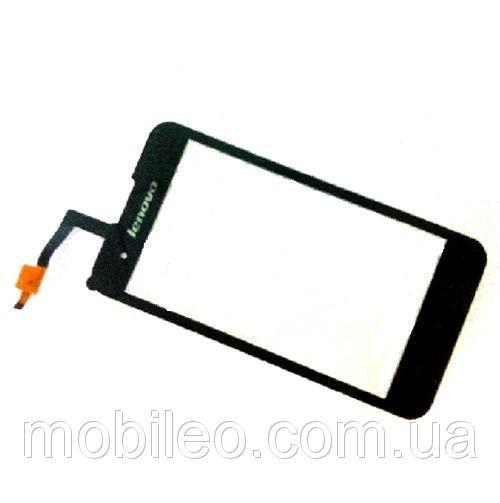 Сенсорный экран (тачскрин) Lenovo A2105 чёрный ориг. к-во