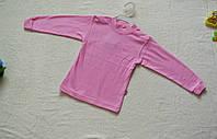 Кофта детская однотонная розовая 6,7 лет
