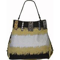 Крутая молодежная сумка. Сумка женская, стильная.Бежевая