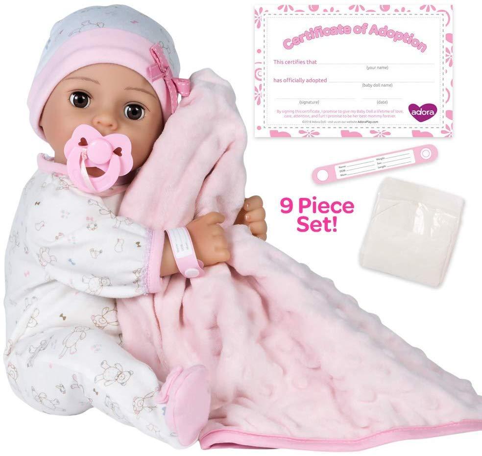 "Фирменный пупс Кукла Адора, Adora Adoption Baby ""Cherish""  Vinyl Girl Newborn"