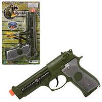 Пистолет 33380 19 5см звук свет 2 вида бат (таб) на листе 15-25-3см
