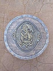 Щит дракон (64 см) ручная работа Материал щита - ольха