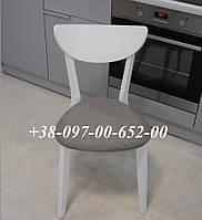 Стул Модерн С-616 Белый + Серая сидушка