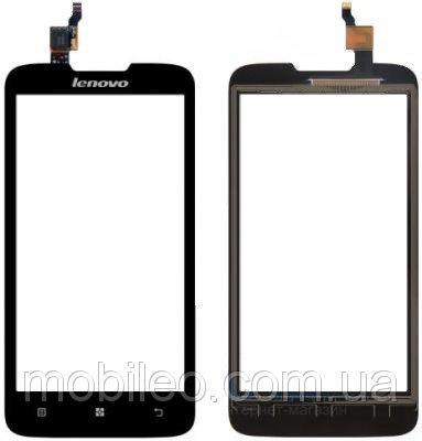 Сенсорный экран (тачскрин) Lenovo A680 (без окнакамеры) чёрный ориг. к-во