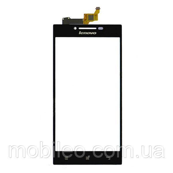 Сенсорный экран (тачскрин) Lenovo P70 чёрный ориг. к-во