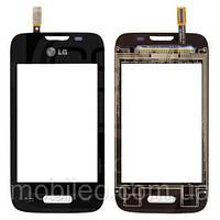 Сенсорный экран (тачскрин) LG D170 Optimus L40 чёрный
