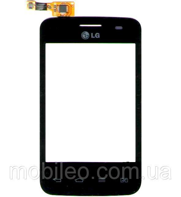 Сенсорный экран (тачскрин) LG E435 L3 Duos чёрный