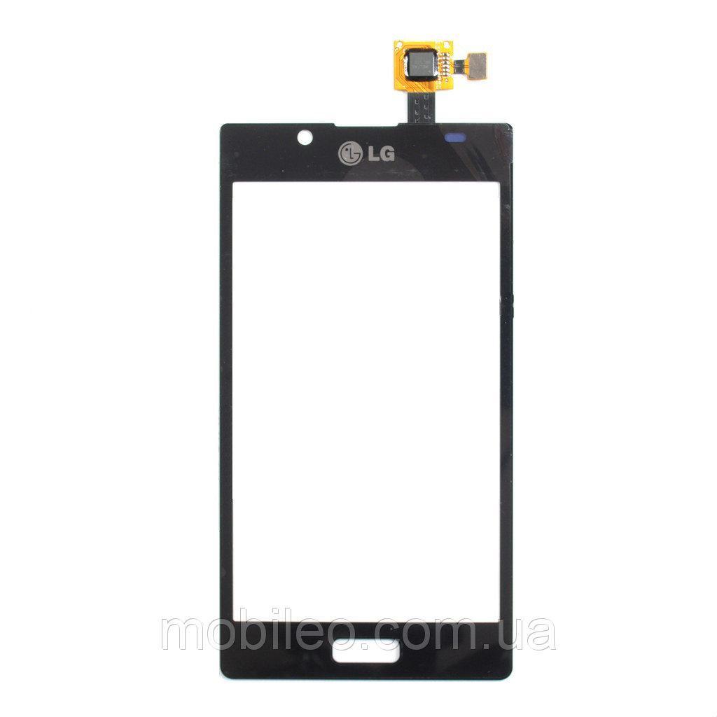 Сенсорный экран (тачскрин) LG E610 Optimus L5 E612 чёрный ориг. к-во