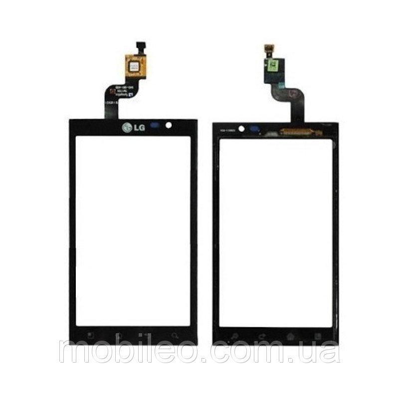 Сенсорный экран (тачскрин) LG P920 Optimus 3D чёрный high copy
