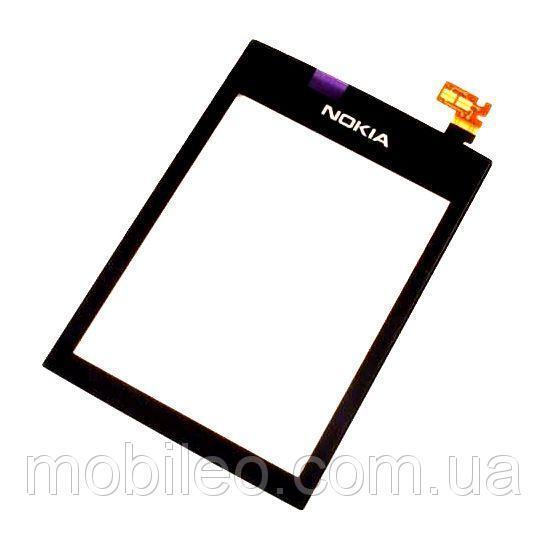 Сенсорный экран (тачскрин) Nokia 300 Asha чёрный taiwan orig