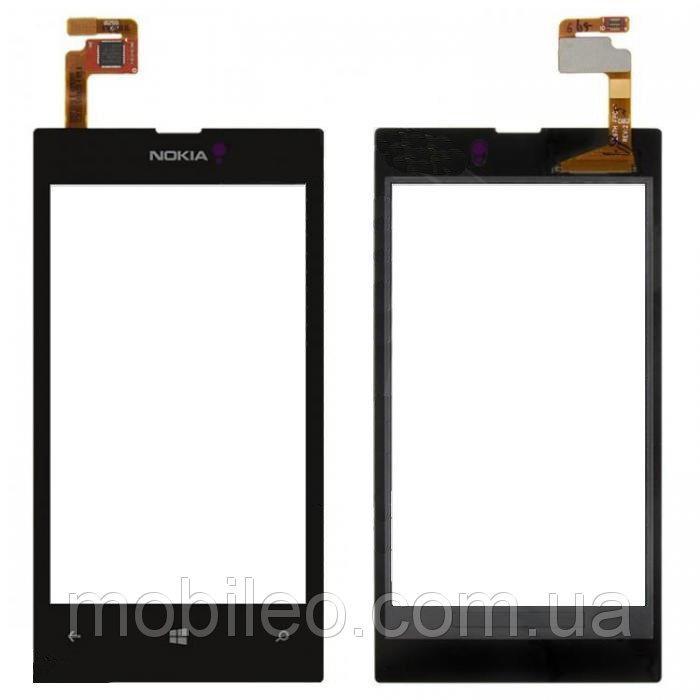 Сенсорный экран (тачскрин) Nokia 520 525 Lumia чёрный ориг. к-во