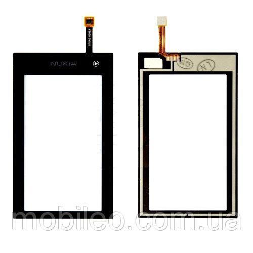 Сенсорный экран (тачскрин) Nokia 5250 чёрный high copy