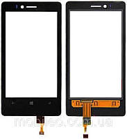 Сенсорный экран (тачскрин) Nokia 810 Lumia чёрный ориг. к-во
