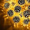 Светодиодная гирлянда с насадкой «Золотой Шарик» на 20 светодиодов, фото 3