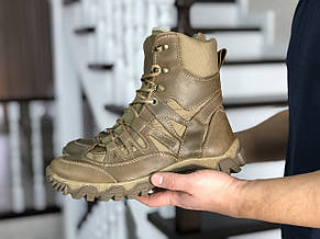 Армейские ботинки,зимние берцы нубук,на меху,коричневые, фото 3