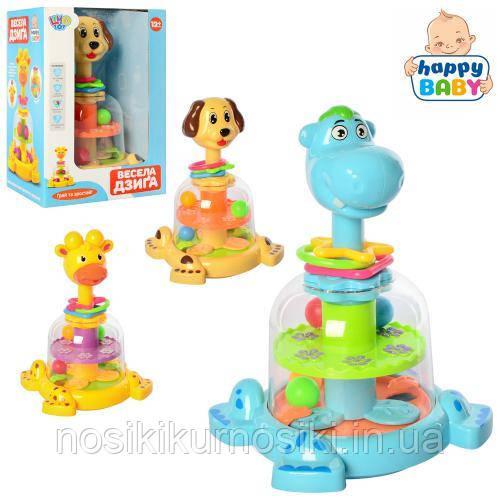 Детская игрушечная юла с погремушками, три вида