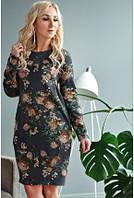 Женское платье в цветочный принт, фото 1