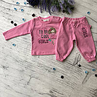 Костюм розовый на девочку Breeze 101. Размер 68 см, 74 см, 80 см,  86 см, 92 см, фото 1