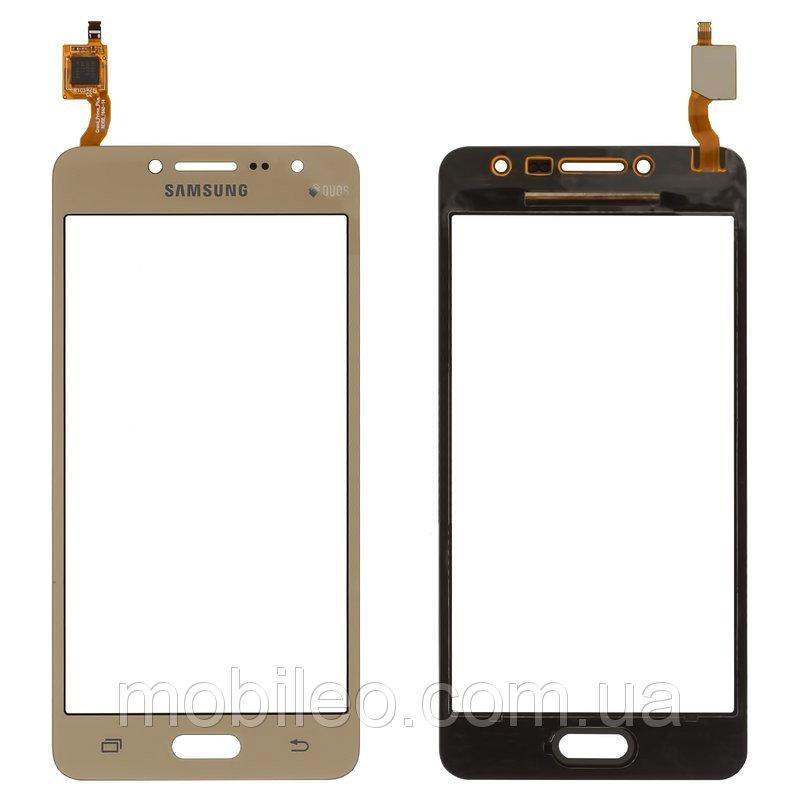 Сенсорный экран (тачскрин) Samsung G532 Galaxy J2 Prime G532F золотой оригинал