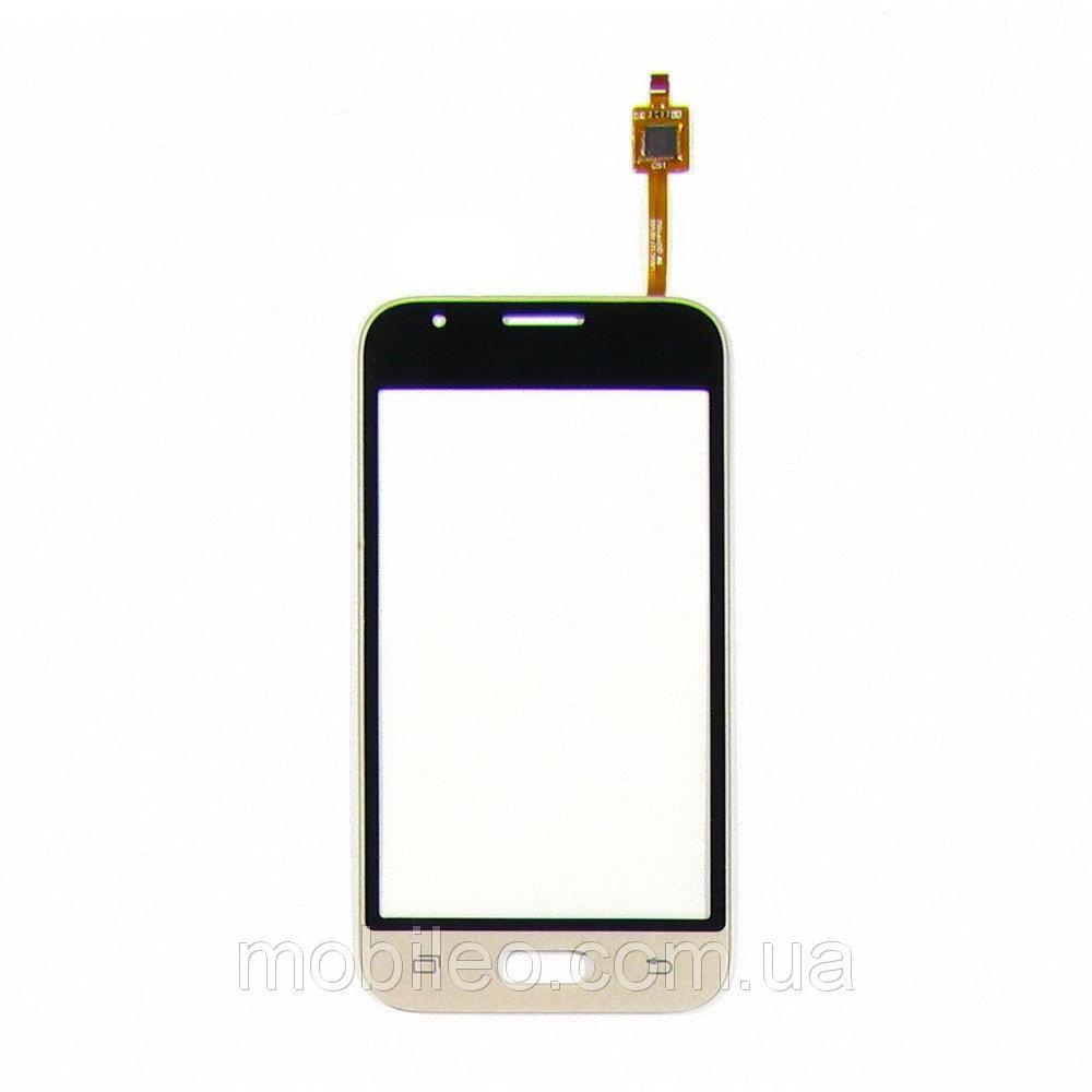Сенсорный экран (тачскрин) Samsung J105H Galaxy J1 Mini (2016) золотой
