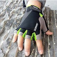 Перчатки для фитнеса DFGUS женские черный с салатовым УЦЕНКА
