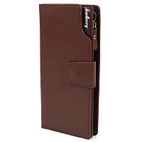 Стильный мужской клатч Baellerry Business коричневый (141475)