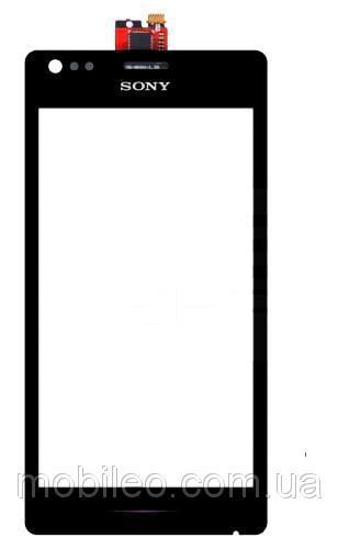 Сенсорный экран (тачскрин) Sony C1904 Xperia M C1905 C2004 C2005 чёрный ориг. к-во