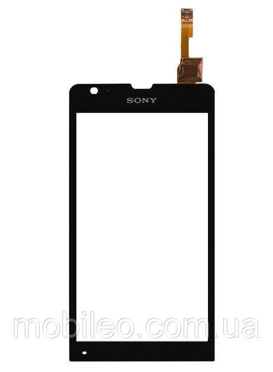 Сенсорный экран (тачскрин) Sony C5302 Xperia SP C5303 M35h M35i чёрный ориг. к-во