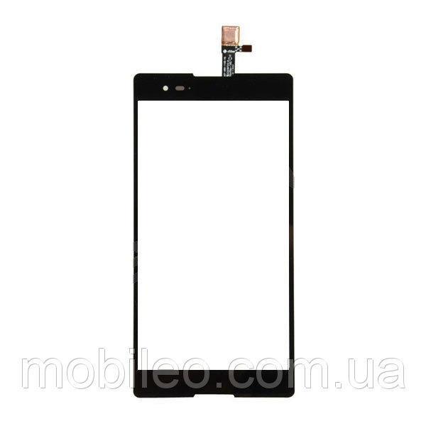 Сенсорный экран (тачскрин) Sony D5322 Xperia T2 Ultra DS чёрный