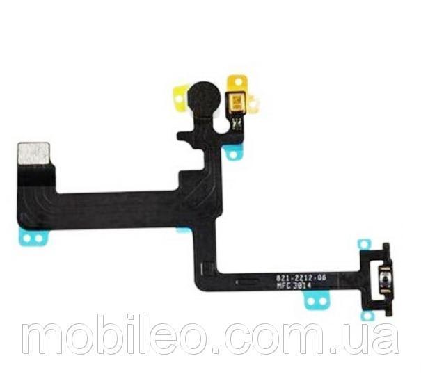 Шлейф для Apple iPhone 6 Plus с кнопкой включения, вспышкой и микрофоном